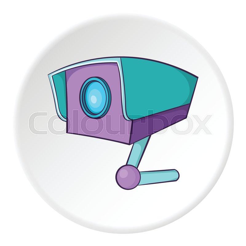Security Camera Icon Cartoon Illustration Of Security Cameravector