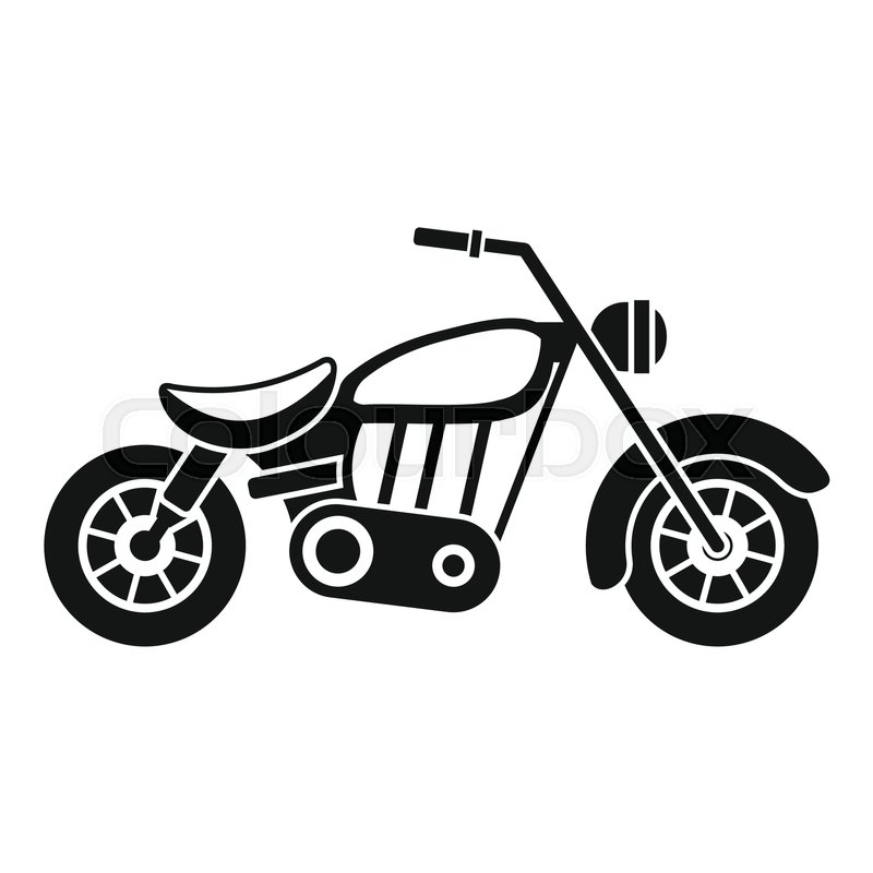 motorcycle icon  simple illustration of motorcycle vector