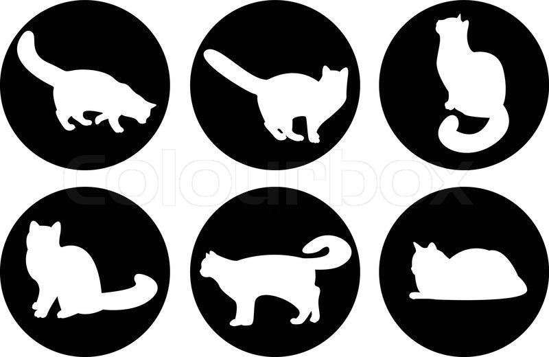 logo cats, cat buttons, cat icons | stock vector | colourbox