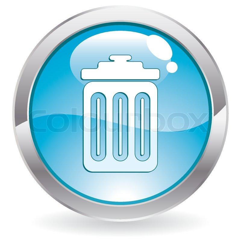 Vector trash can icon   Vector   Colourbox