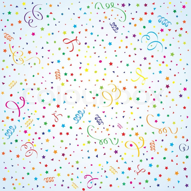 Birthday background with streamer and confetti, element ...