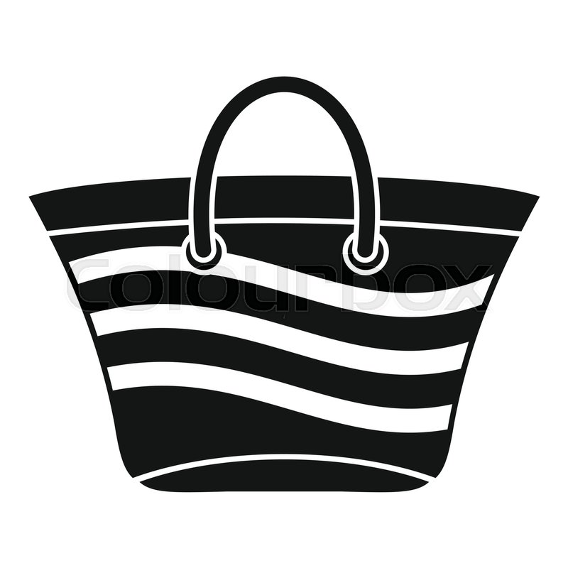 women beach bag icon simple illustration of women beach bag vector