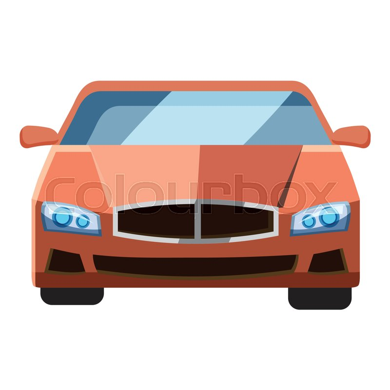 Red Car Front View Icon Isometric 3d Stock Vector Colourbox