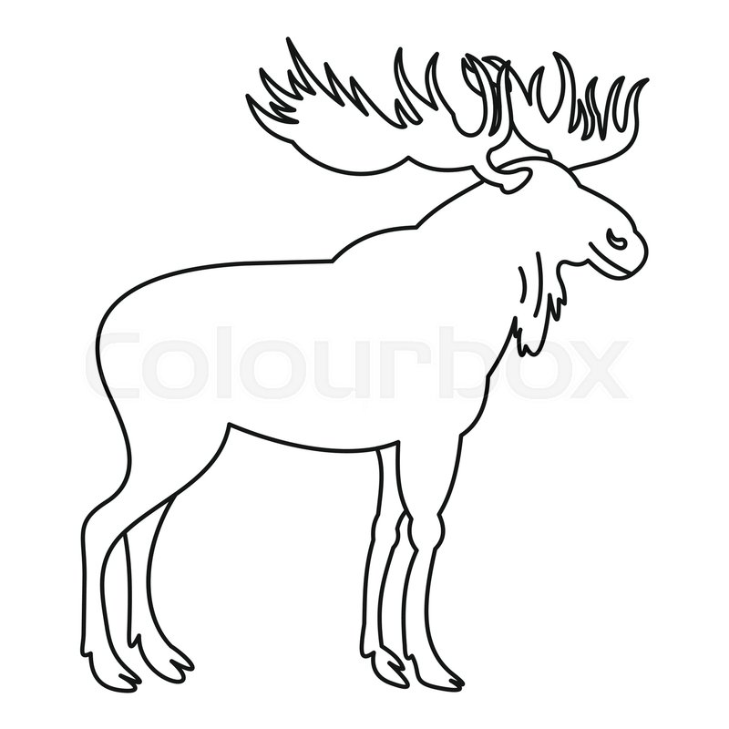 moose icon outline illustration of moose vector icon for