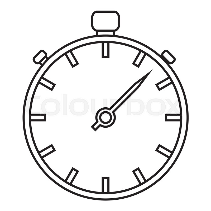 stopwatch icon outline illustration of stopwatch vector icon for rh colourbox com stopwatch suunto vector stopwatch vector png