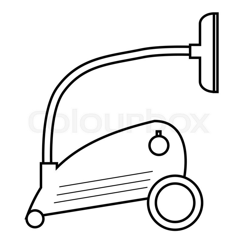 vacuum clipart black and white. vacuum cleaner icon outline illustration of vector for web stock colourbox clipart black and white