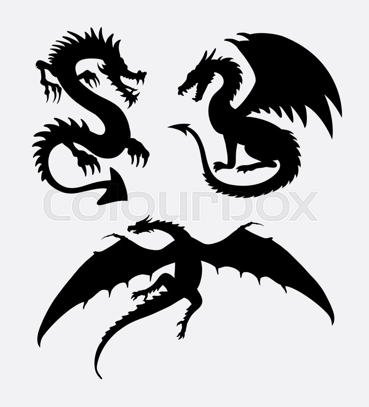Dragon fantasy design silhouette good use for symbol sign logo web icon mascot sticker design or any design you want vector