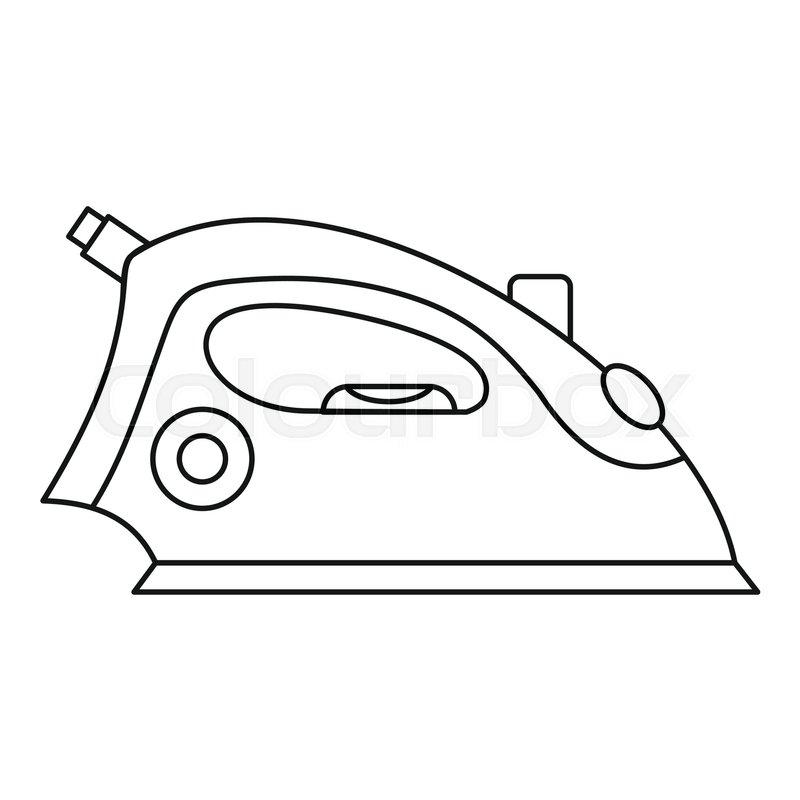 iron icon  outline illustration of