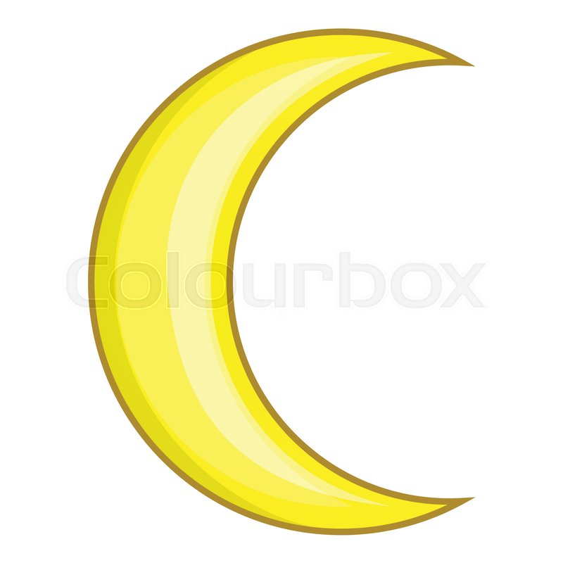 crescent moon icon cartoon illustration of moon vector icon for web rh colourbox com yellow crescent moon cartoon crescent shaped moon cartoon images