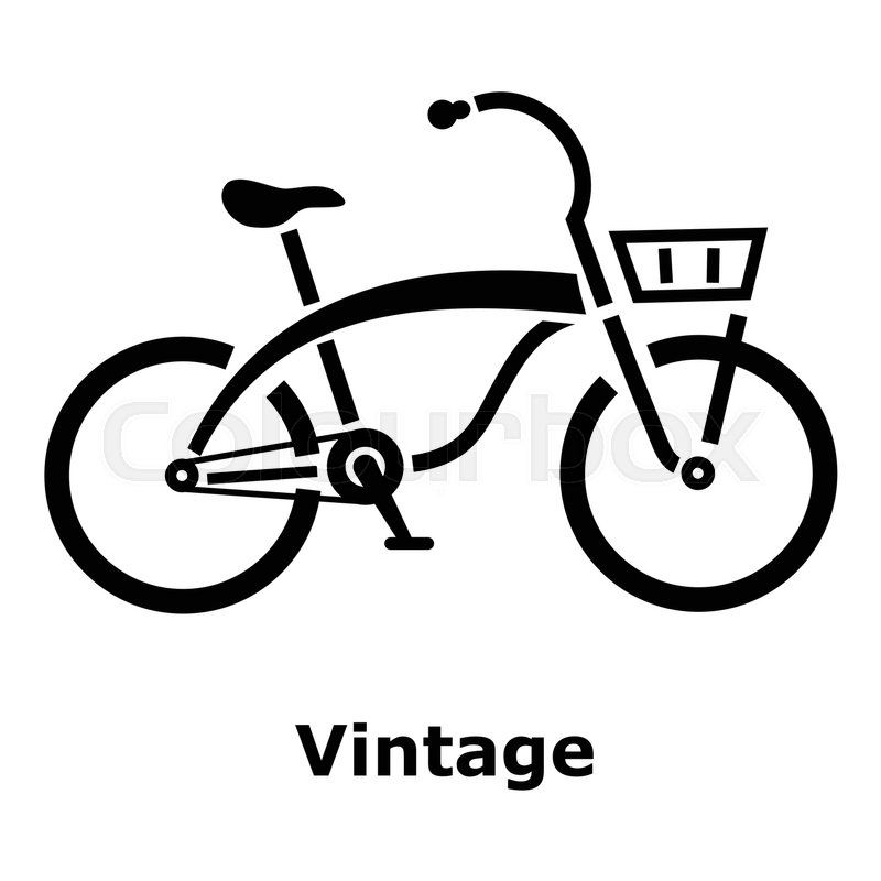 vintage bicycle icon simple illustration of vintage bicycle vector rh colourbox com bicycle vector silhouette bicycle vector free download