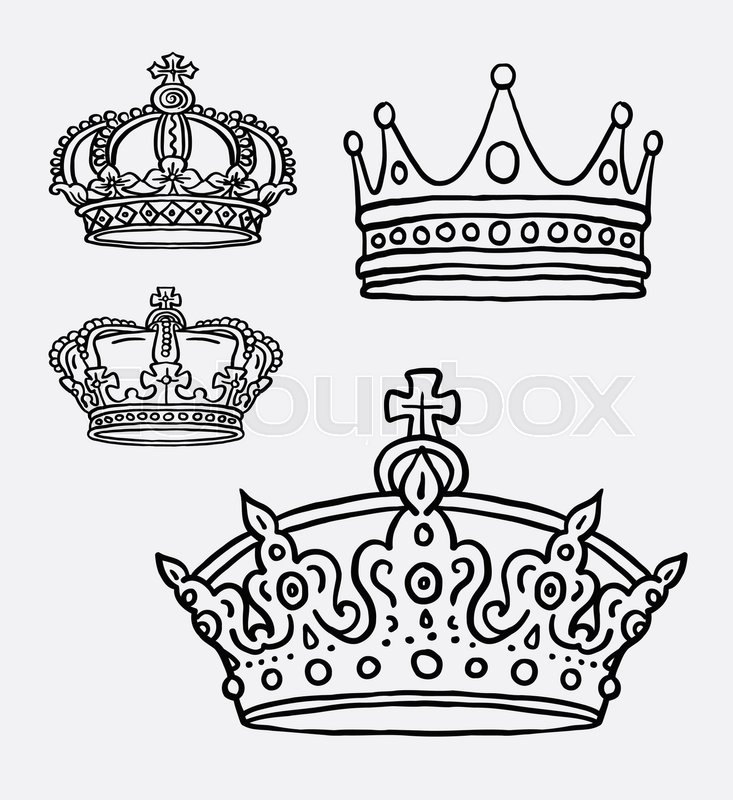 Crown The King Symbol Hand Drawing Good Use For Symbol Logo Web