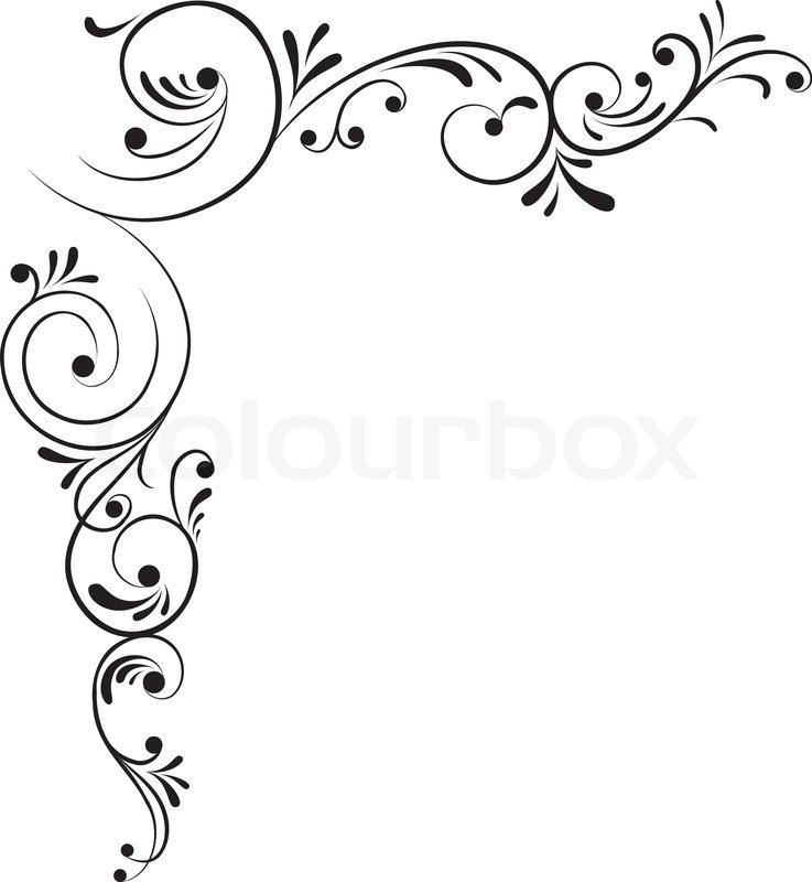 Element for design, corner flower, ... | Stock Vector ...  Fancy