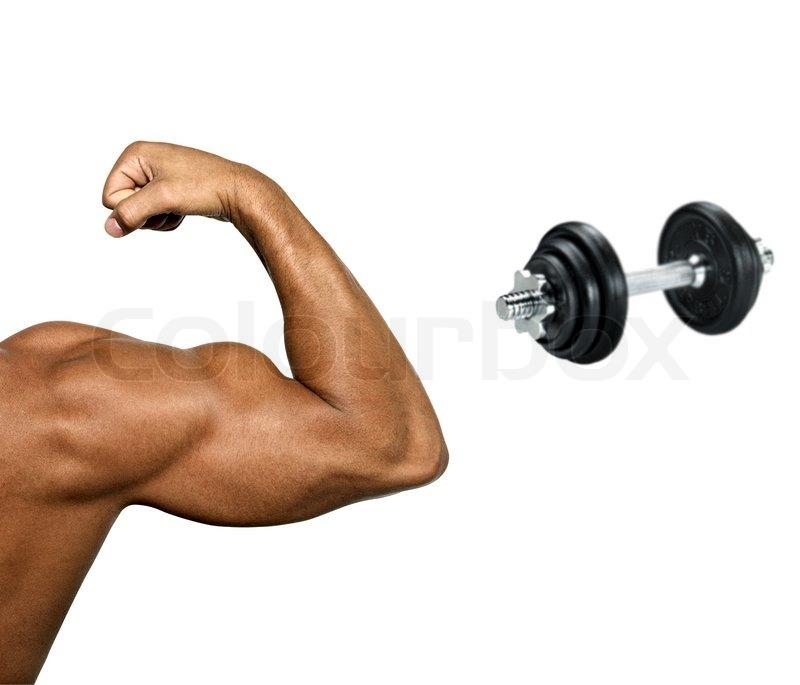 Hand des Mannes mit Muskeln und großen Bizeps | Stockfoto | Colourbox