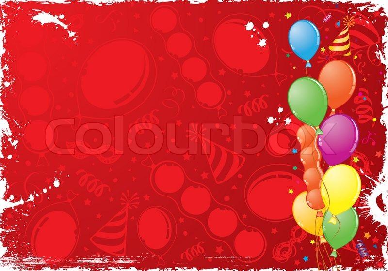 Birthday Grunge Frame With Balloon Stock Vector Colourbox