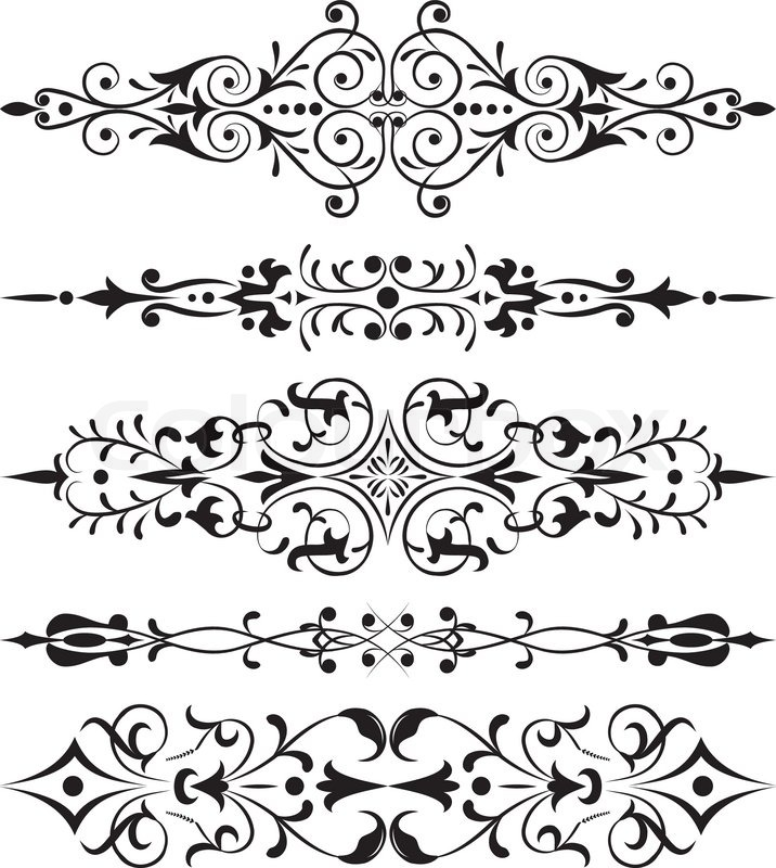 Element For Design Corner Flower Vector Illustration