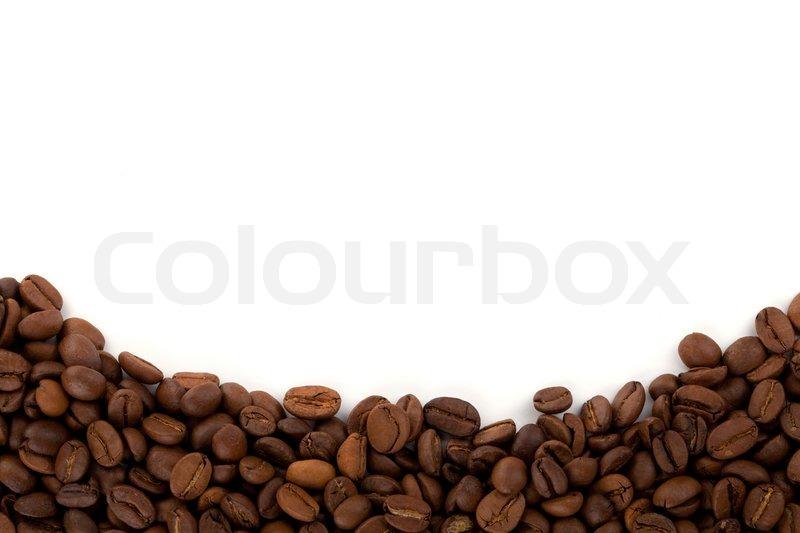 coffee beans on white background stock photo colourbox