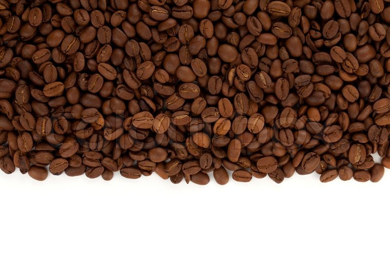 coffee beans on white background stock photo colourbox
