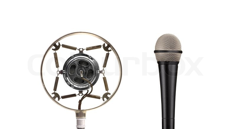 Vintage And Modern Microphone Stock Photo Colourbox