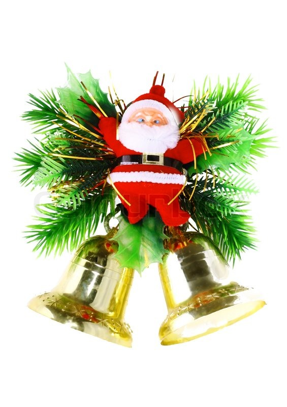 Christmas And New Year DecorationSanta Claus And Jingle Bells Magnificent Decorative Jingle Bells