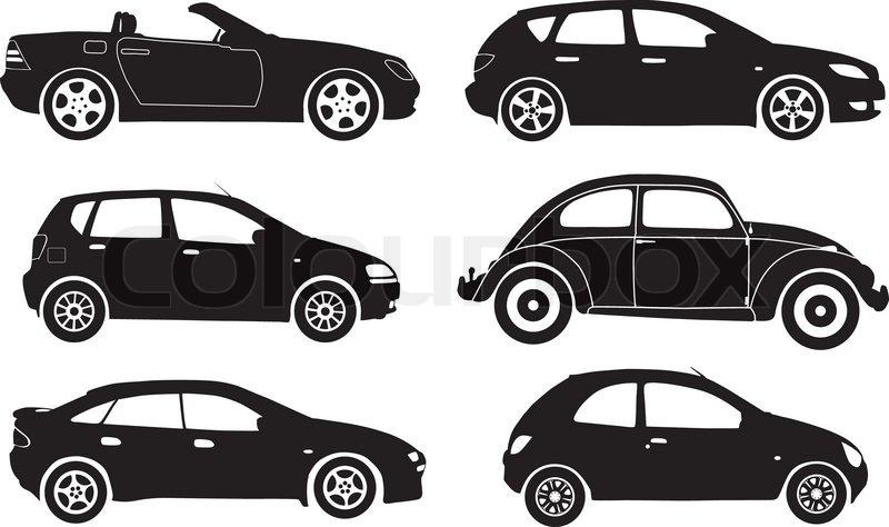 Silhouette Cars Vector Illustration Stock Vector