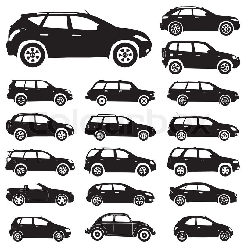Recreation Collecting Sports Auto Racing on Vector Of  Large Collection Of Silhouettes Of Cars  Element For Design