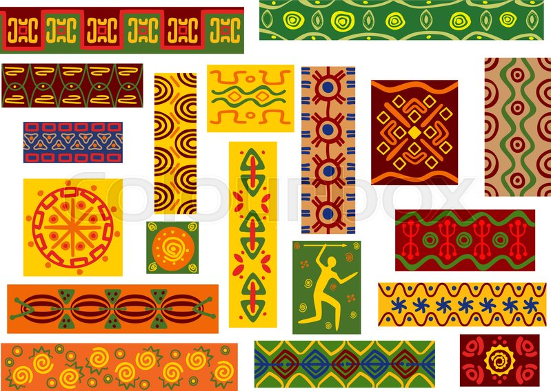 African Tribal Ornaments Set Of Ethnic Patterns With Geometric And Gorgeous African Tribal Patterns