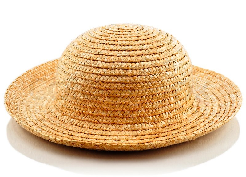 A straw hat on white background  2e3368dccf64