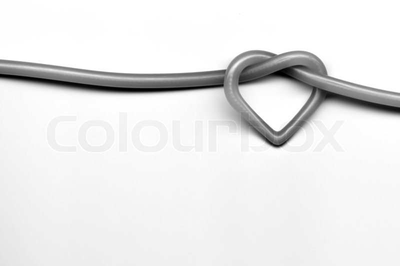 Stock image of 'Love knot on a white background'