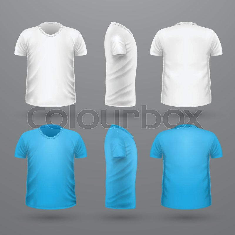 T Shirt Template Set Front Side