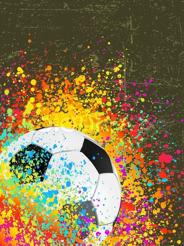 splash grunge background with a soccer