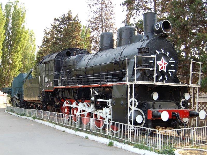 Black Military Armoured Train In Sevastopol Ukraine
