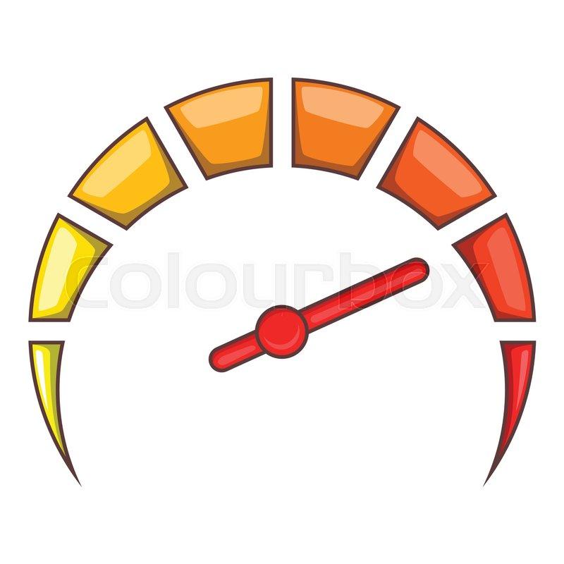 Speedometer at maximum speed icon        Stock vector