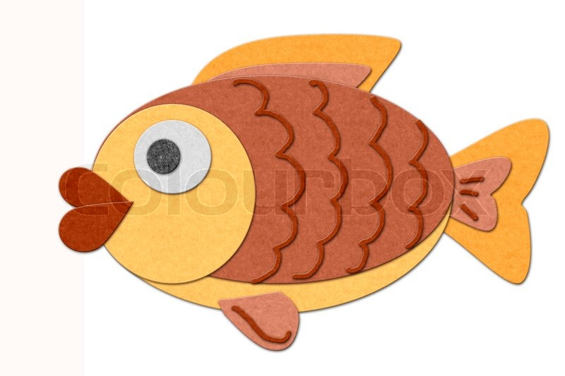 fish cutout style isolated over white stock photo colourbox