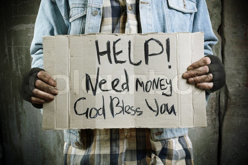 Homeless llife concept ,selective focus on center of image, stock photo