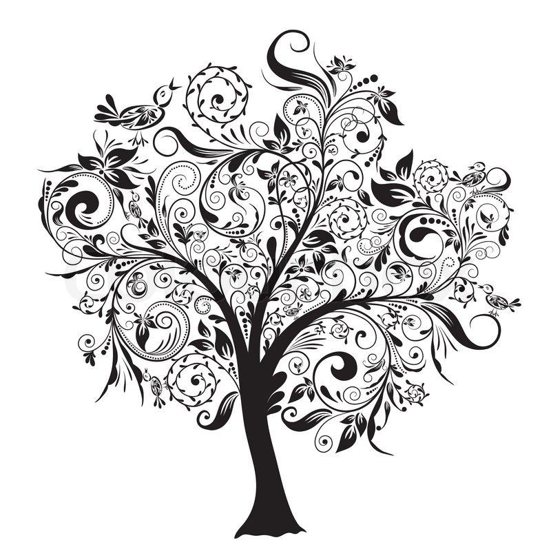Dekorative Baum , Vektor-Illustration