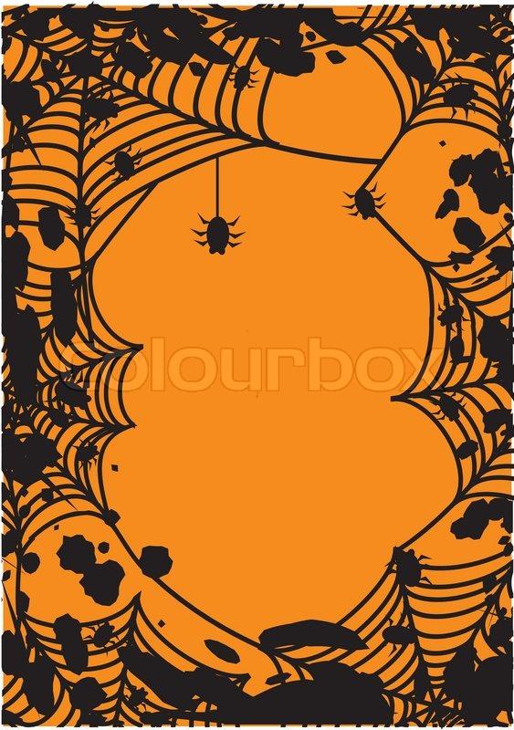 halloween rahmen mit spinnennetz vector illustration vektorgrafik colourbox. Black Bedroom Furniture Sets. Home Design Ideas