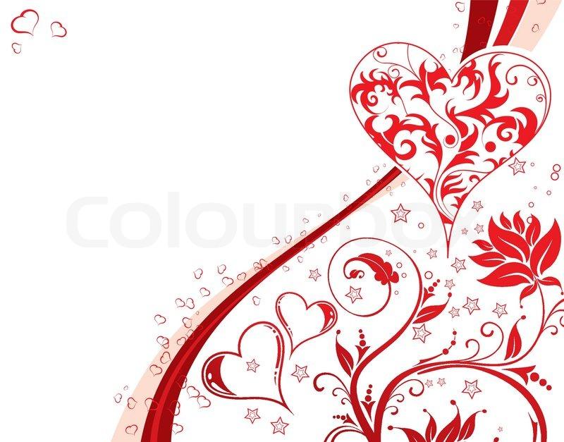 valentines day hintergrund mit herzen und blumenmuster element f r design vektor. Black Bedroom Furniture Sets. Home Design Ideas