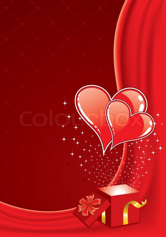 Valentines Day Frame With Hearts And Stock Vector Colourbox
