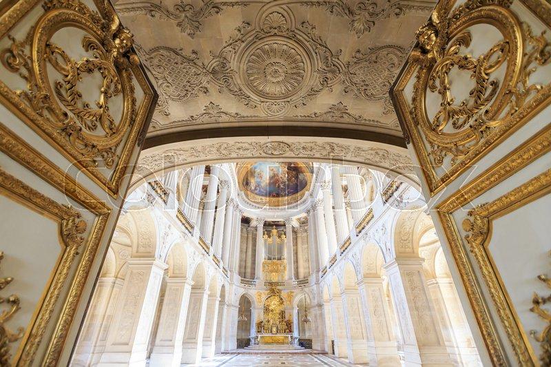VERSAILLES FRANCE - JUNE 20 Interior Chateau of Versailles ...