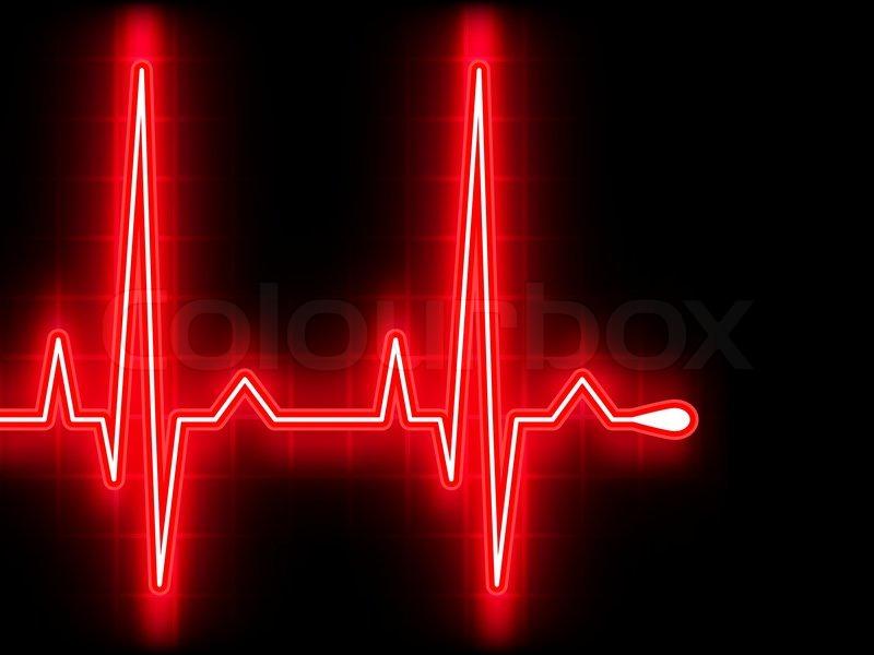 Rotes Herz höher schlagen. EKG-Diagramm. 8 EPS-Vektordatei enthalten ...