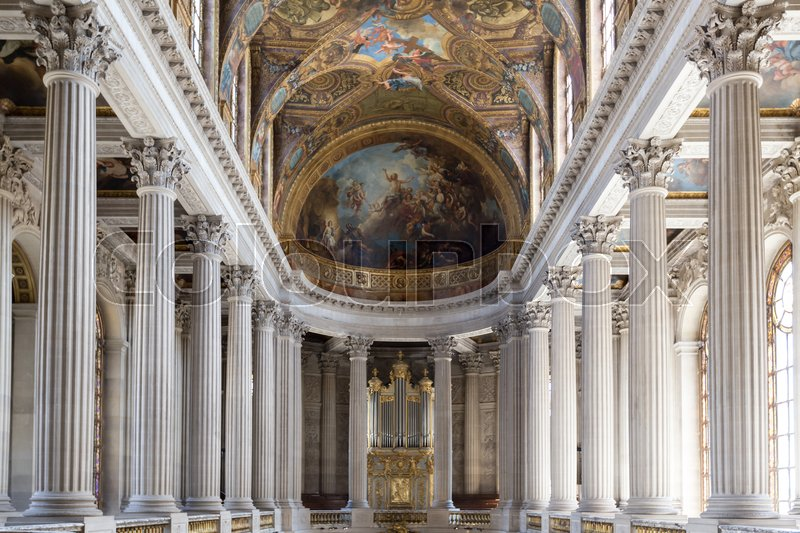 VERSAILLES FRANCE - JUNE 20 Interior Chateau of Versailles ...
