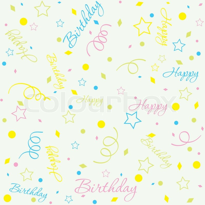 Template Geburtstag Hintergrund Vektorgrafik Colourbox
