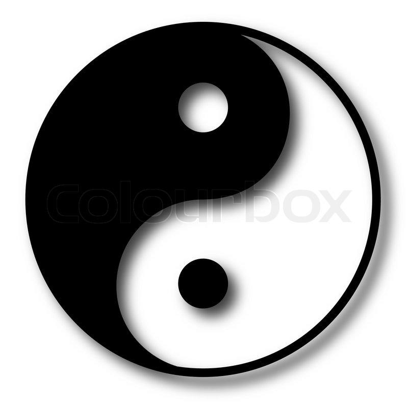 yin yang vector illustration stock vector colourbox rh colourbox com Cool Vector Colorful Yin Yang