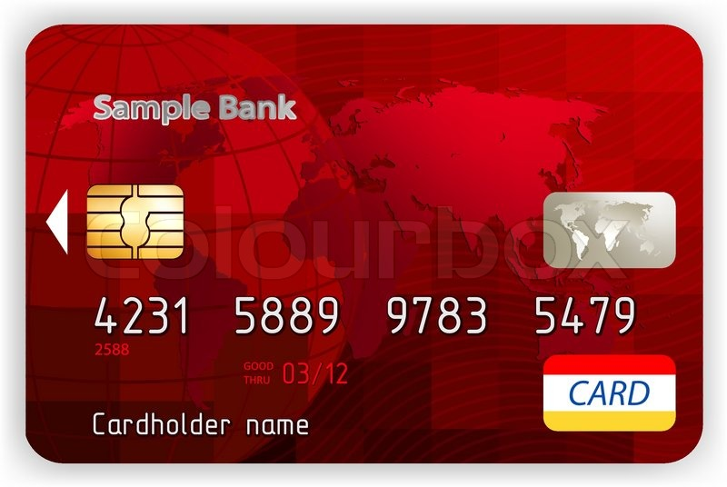 Credit Cards Front View Without A Stock Vector
