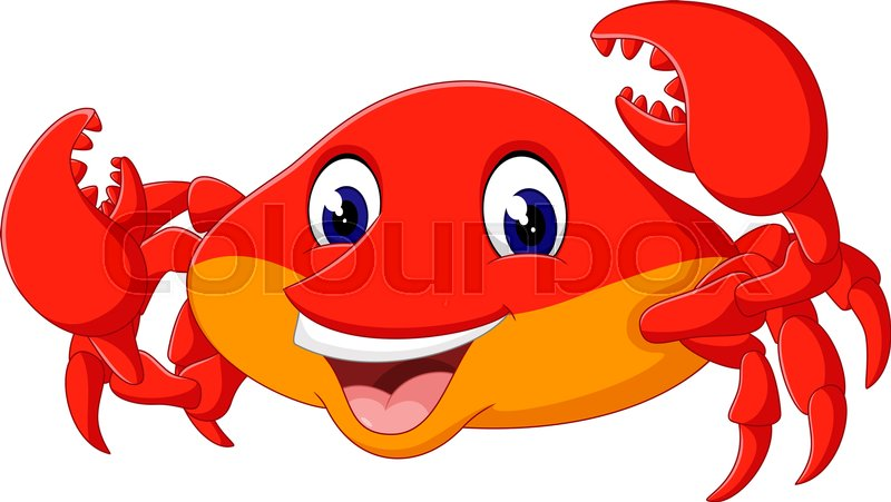 illustration of cute crab cartoon stock vector colourbox rh colourbox com crab cartoon images crab cartoon pictures free