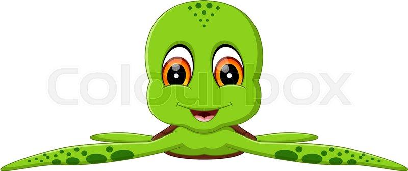 Illustration Of Cute Turtle Cartoon Stock Vector Colourbox