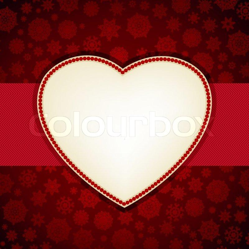 Christmas Heart Frame Card Template Stock Vector Colourbox