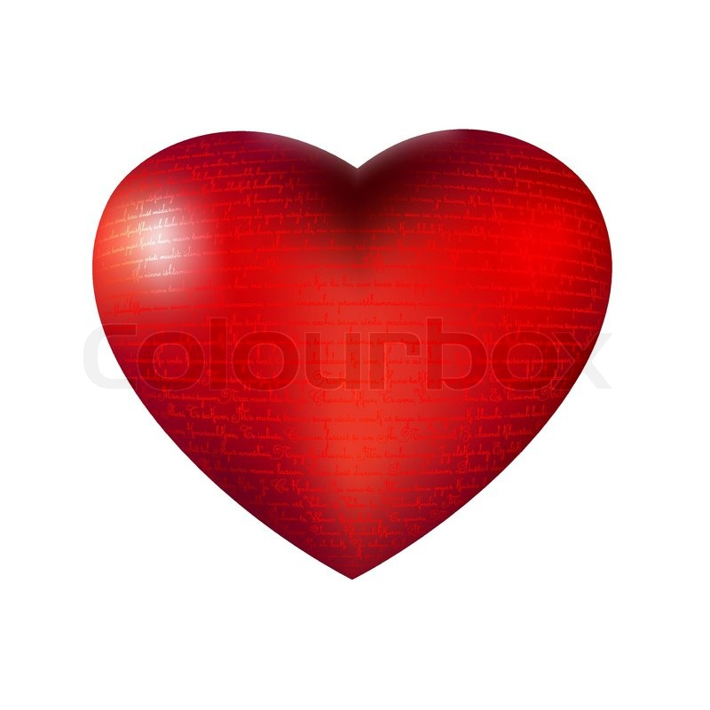 I Love You In Different Languages On Gloss Heart Symbol With Burst
