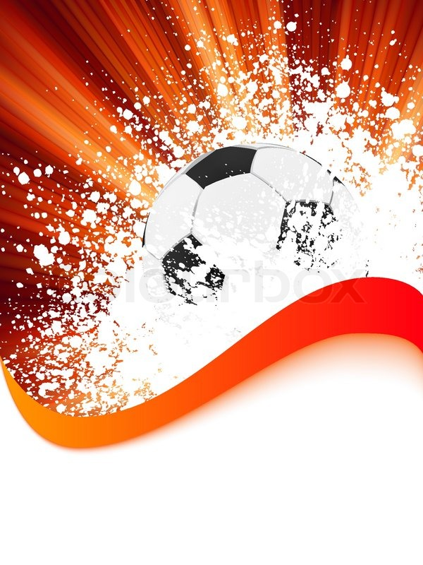 soccer background with copyspace
