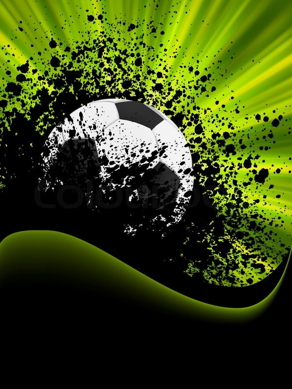 Grunge Football Poster With Soccer Stock Vector